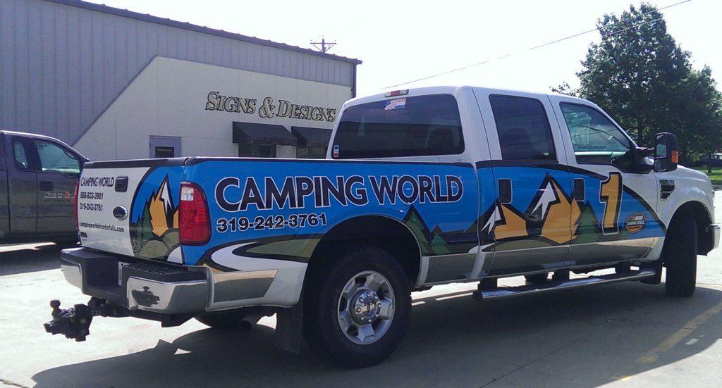 Camping World vehicle wrap