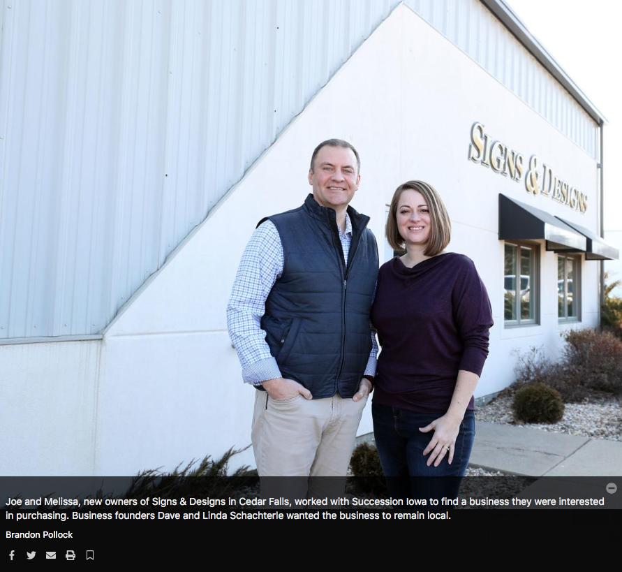 Joe and Melissa Barber, new owners of Signs and Designs